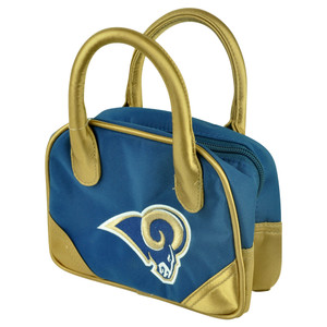 NFL St Louis Rams Mini Bowler Hand Bag Two Tone Accessories Football Womens