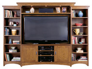 Mission Oak Entertainment Center