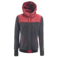 Holden Wmns Sherpa Hybrid Zip Fleece Black