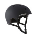 Sandbox Legend Snow Helmet Black - Ear pads removed.