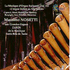 The Italian Organ, Vol. 6 Italian Organ in the 20th Century