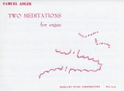 Adler, Samuel: Two Meditations Arioso and Pastorale