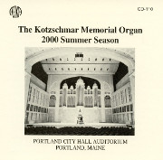 2000 Summer Concert Season, Kotzschmar