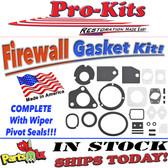75-76 A-Body Firewall Gasket Kit w/Pivot Seals