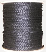 "1/4"" Black Hollow Braid Polypropylene Rope"