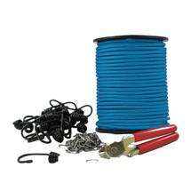 """1/4"""" Polyester DIY Bungee Hook Kit (w/ 120 ft)"""