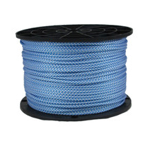 "1/8"" Polyester Rope Blue and White Checkered"