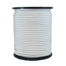 "1/4"" Polyester Bungee Solid White"