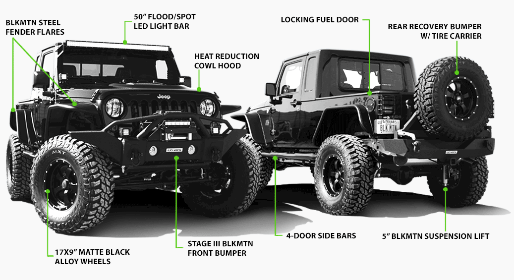 Black mountain jeep products