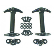 '42-'95 CJ/YJ Black Hood Latch Kit
