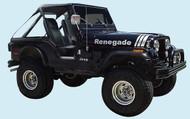 '70-'06 CJ/YJ/TJ Jeep Renegade Hood Decal Kit