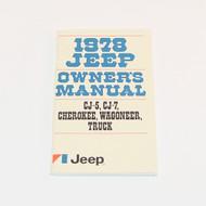 1978 CJ/Cherokee/Wagoneer/Truck Factory Owners Manual