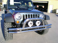 '07-Current JK Unlimited Stainless Bumper Combo w/Side Bars