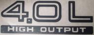 """4.0L High Output"" Rear Decal (Black)"