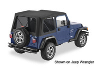 '03-'06 TJ Sailcloth Replace-a-Top w/tinted windows w/o upper door skins