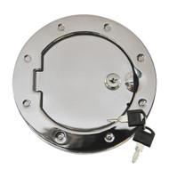 '07-Current JK Stainless Steel Locking Fuel Door Cover