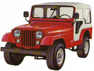 '76-'83 CJ5 60th Anniversary Replace-a-Top™ w/door skins  (White Denim)