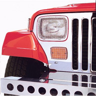 '87-'95 YJ 6pc Stainless Light Guard Kit