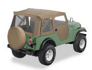 '76-'83 CJ5 Supertop w/2-pc doors & clear windows