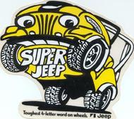 """Super Jeep"" Decal - 2.5""  X  2"""