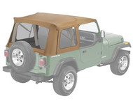 '76-'95 CJ/YJ Supertop Replacement Skin w/Clear Windows