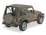 '03-'06 TJ Supertop w/Soft Upper Doors & Clear Windows (Khaki Diamond)