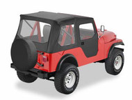 '55-'81 CJ6 Tigertop w/doors & clear windows