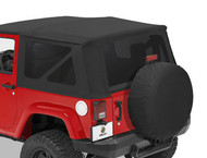 '07-'10 JK 2dr Tinted Window Kit for Sailcloth Replace-a-Top