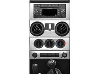 '07-'10 JK w/Power WindowsTrailMax Dash Overlay Kit (Brushed Aluminum)