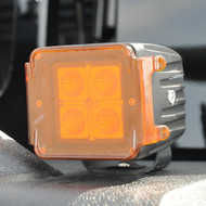 "Amber Cover for 3"" Square LED Lights (pair)"