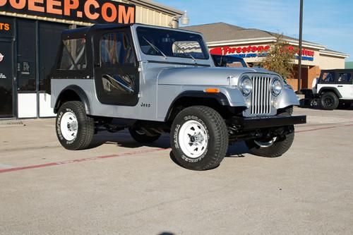 sold 1982 cj 7 silver stock 058655 collins bros jeep. Black Bedroom Furniture Sets. Home Design Ideas