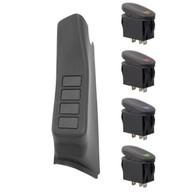 '11-Current JK LH A-Pillar Switch Pod w/4 Switches