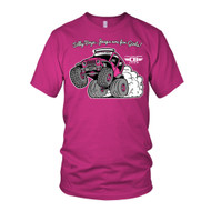 Jeep Wheelie Kid's T-Shirt – Pink