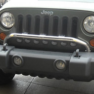 '07-Current JK OEM Bumper-Mounted Stainless Light Bar