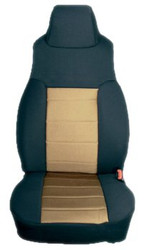 '97-'02 TJ/LJ Poly Cotton Front Seat Covers (Tan & Black)