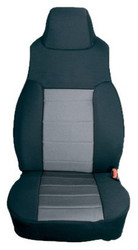 '97-'02 TJ/LJ Poly Cotton Front Seat Covers (Gray & Black)