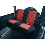 '97-'02 TJ/LJ Neoprene Rear Seat Cover (Red & Black)