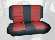 '03-'06 TJ/LJ Neoprene Rear Seat Cover (Red & Black)