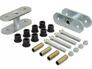 "'76-'86 CJ 1-1/2"" Lift Front Greasable Super Shackle Kit"