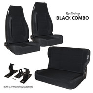 '76-'95 CJ/YJ 2-Reclining Front Seats w/ Rear Fold & Tumble