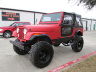 SOLD 1986 Jeep CJ-7 Red Kevlar Lined Stock# 062893