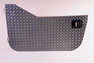 '87-'95 YJ Diamond Plate Half Door (w/Rotary Style Paddle)