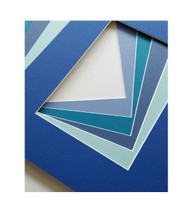 11x14 Single Matting Pack of 5 - Assorted Blues