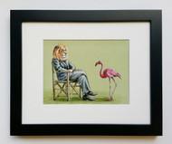 Shrimp Critic - Framed Art Print - 8x10