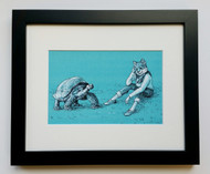 A Day In The Shell- Framed Art Print - 8x10