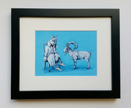 Ibex You Know- Framed Art Print - 8x10