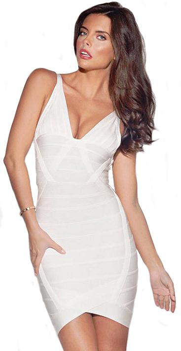 CELEBRITY STYLE: CANDICE SWANEPOEL WHITE BANDAGE DRESS - Dream it ...
