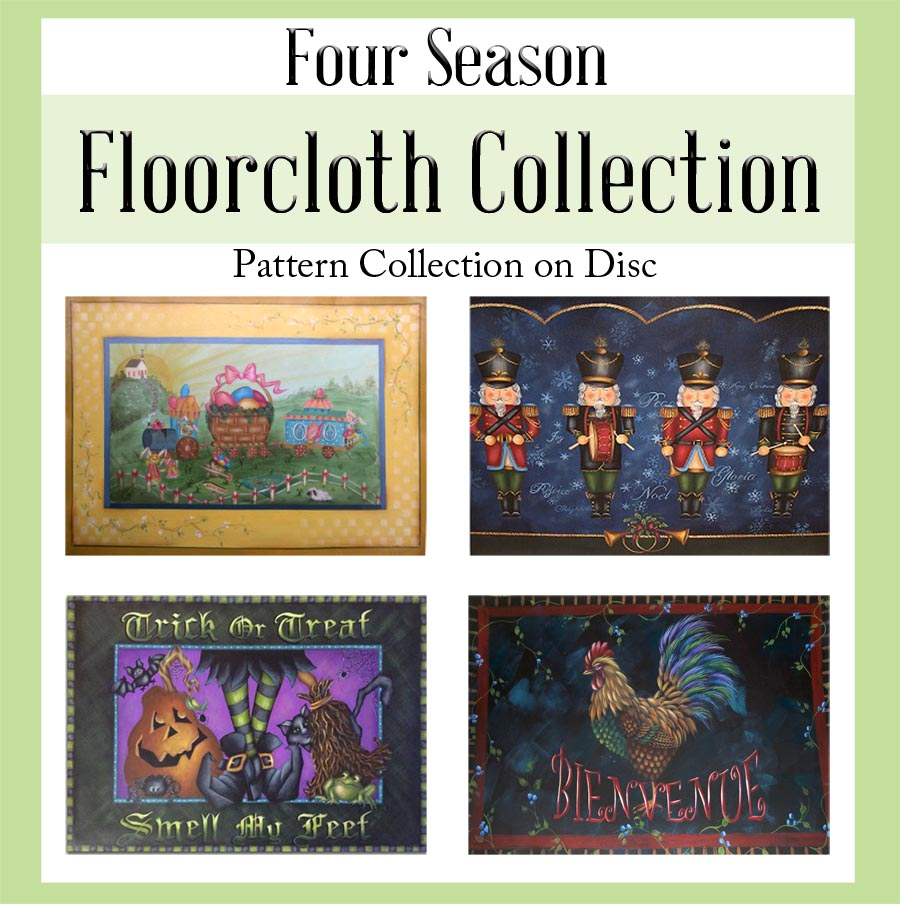 Four Season Floorcloth Pattern Collection on Disc