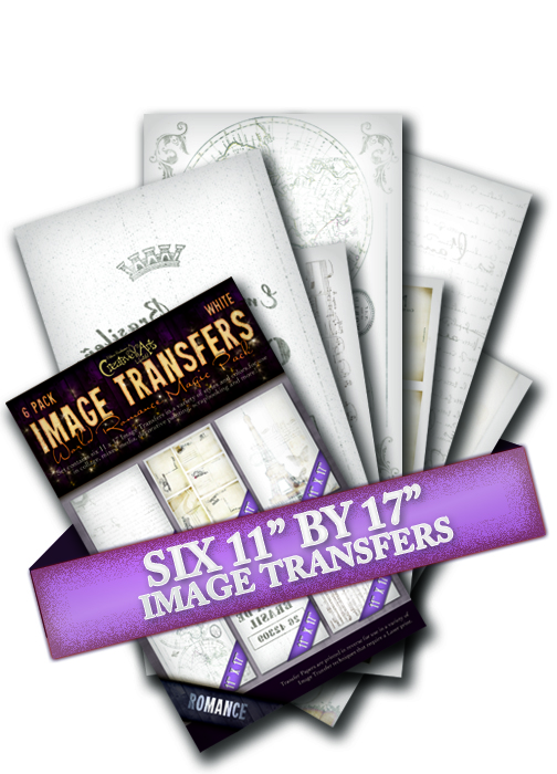 "Image Transfer Magic Pack - World Romance Magic Pack - White Washed Effect - Set of 6 11""x17"" Papers"