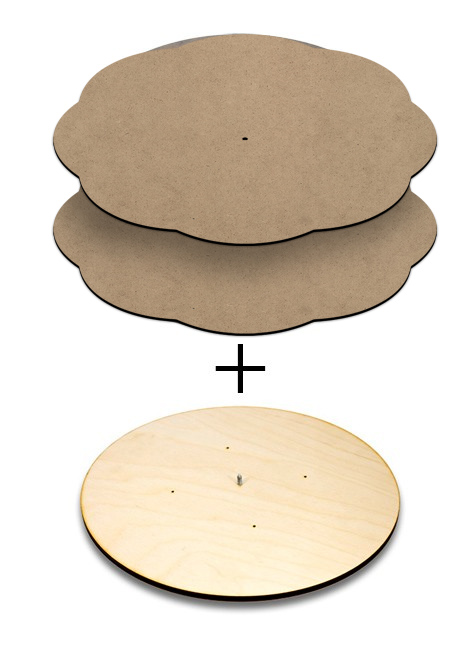 Four Season Lazy Susan / Scalloped Panels